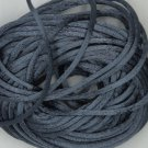 Charcoal Gray Gray Satin Rattail Cord Made in the USA 10 yard pack