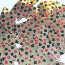 "Sequin Long Diamond 1.75"" Playing Card Clubs Hearts Spades Diamonds Gold"