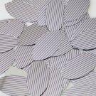 "Sequin Navette Leaf 1.5"" Purple Silver Pinstripe Metallic Couture Paillettes"