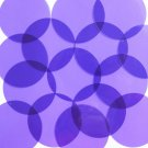 "Sequin 2"" Round Shape Vinyl Go Go Trans Purple. Made in USA"