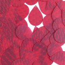 3D Red Sequin Tear Drop 1.5 inch Dimensional Reflector Paillettes. Made in USA.