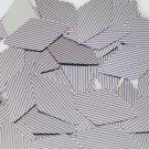 "Sequin Long Diamond 1.75"" Purple Silver Pinstripe Metallic Couture Paillettes"