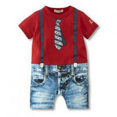 2017 Baby Boy Rompers Summer Baby Boy Clothing Sets Newborn Baby