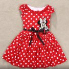 New Summer Girls Dress Tutu Princess Baby Mickey Minnie Mouse  Dress