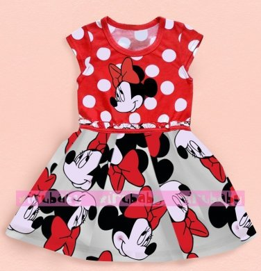 Summer Girls Dress Tutu Princess Baby Mickey Minnie Mouse