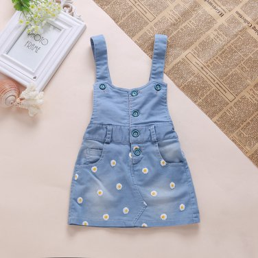 6M-4 Years Baby Sundress Baby Girl Dress Summer Denim Dresse