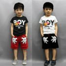 2PCS Toddler Boy Kids Outfits T-shirt+Shorts Clothes Set 2-7Y
