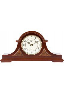 English Tambour Clock with Cherry Finish and Four Different Chimes - Model # 3104C