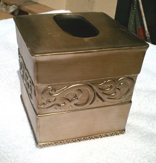 pewter Tissue Box