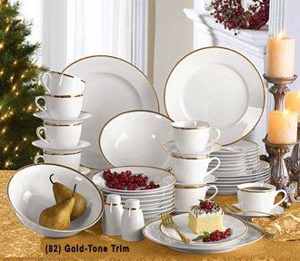 Corbel 45-Pc. Banded Dinnerware Set