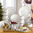Corbel 45-Pc. Banded Dinnerware Set