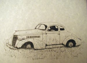 Limited Edition Car Print signed & #