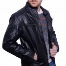 Mens leather jacket biker jacket black leather jacket