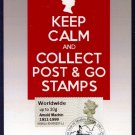 Special 50th Year of Machin Stamps Postmark on Arnold Machin Centenary Post & Go Stamp