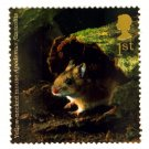 Animals on Stamps - Yellow-Necked Mouse 1st Class Royal Mail Stamp NHM at Face Value