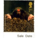 Animals on Stamps - Mole 1st Class Royal Mail Stamp NHM at Face Value