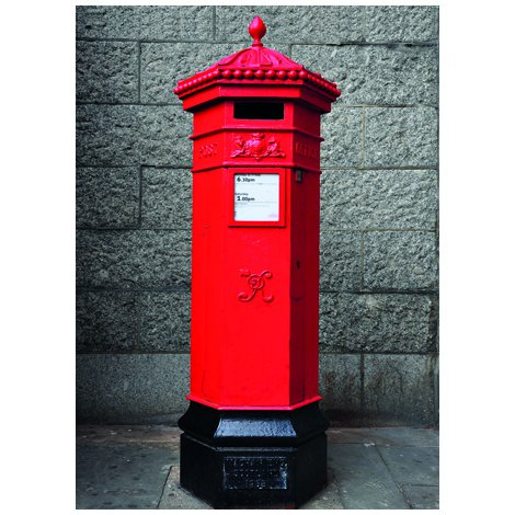 Pillar Box Postcard Sent to You in the Mail Using a Pictorial GB Post and Go Stamp