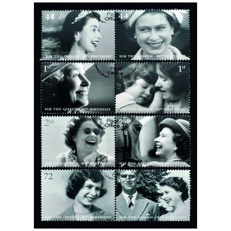 Queen Stamps Postcard Sent to You in the Mail Using a Pictorial GB Post and Go Stamp