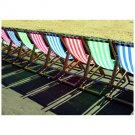 Deck Chairs Postcard Sent to You in the Mail Using a Pictorial GB Post and Go Stamp