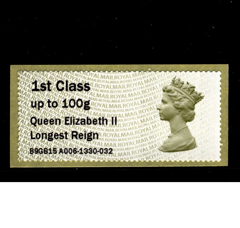 I Will Mail You This Special Queen Elizabeth Longest Reign Post & Go Stamp on QEII Postcard