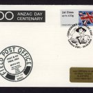 Special RAF Northolt BFPO Post & Go Trial Cover Marking Centenary ANZAC Day 2016