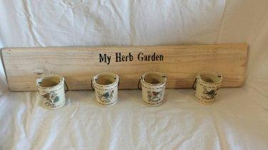 Reclaimed Wood Hanging Herb Garden