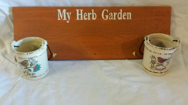 Small Reclaimed Wood Hanging Herb Garden