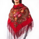 Russian, Authentic, Original, Pavlovo Posad Shawl 100% Wool 100% free shipping