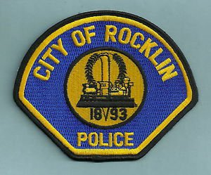ROCKLIN CALIFORNIA POLICE PATCH