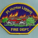 FORT HUNTER LEGGETT ARMY BASE CALIFORNIA FIRE RESCUE PATCH