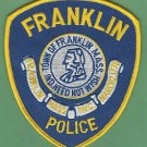FRANKLIN MASSACHUSETTS POLICE PATCH