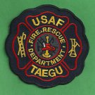 TAEGU AIR BASE SOUTH KOREA FIRE RESCUE PATCH