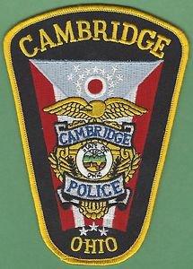 CAMBRIDGE OHIO POLICE PATCH