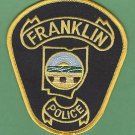 FRANKLIN OHIO POLICE PATCH