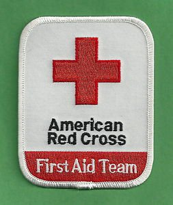 AMERICAN RED CROSS FIRST AID TEAM RESCUE EMS PATCH