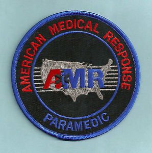 AMR AMERICAN MEDICAL RESPONSE PARAMEDIC RESCUE EMS PATCH BLUE