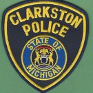 CLARKSTON MICHIGAN POLICE PATCH