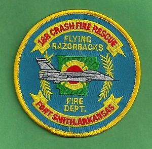 188TH ARKANSAS AIR NATIONAL GUARD BASE FORT SMITH FIRE RESCUE PATCH