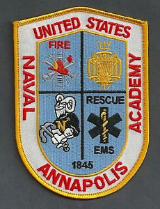 ANNAPOLIS U.S. NAVAL ACADEMY MARYLAND FIRE RESCUE PATCH