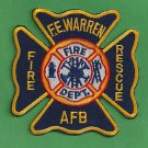 F.E. WARREN AIR FORCE BASE WYOMING CRASH FIRE RESCUE ARFF PATCH