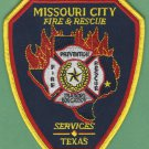 MISSOURI CITY TEXAS FIRE RESCUE PATCH