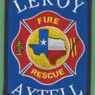LEROY AXTELL TEXAS FIRE RESCUE PATCH