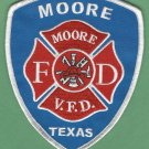 MOORE TEXAS FIRE RESCUE PATCH