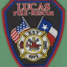 LUCAS TEXAS FIRE RESCUE PATCH