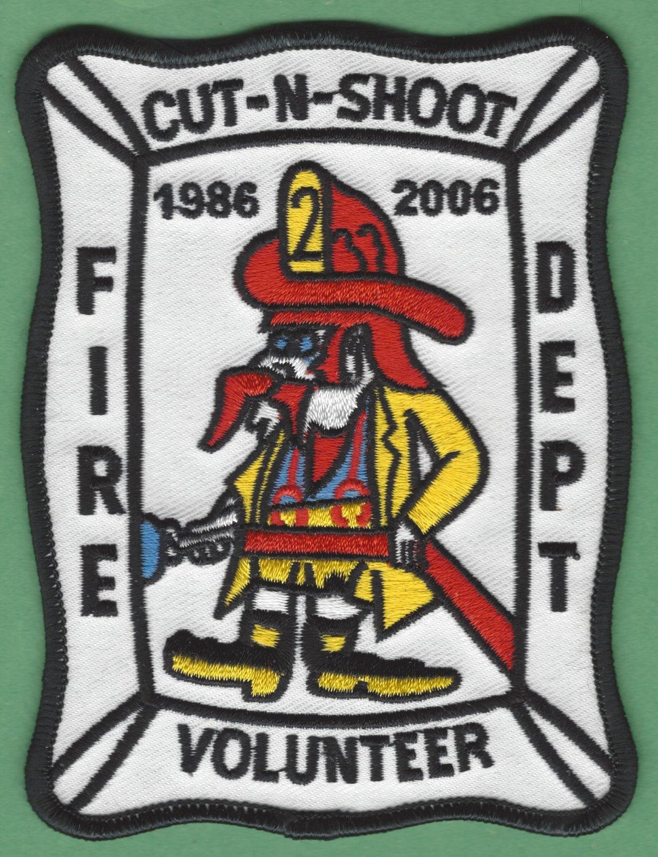 CUT-N-SHOOT TEXAS FIRE RESCUE PATCH