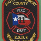 SOUTH MONTGOMERY COUNTY ESD 8 TEXAS FIRE RESCUE PATCH