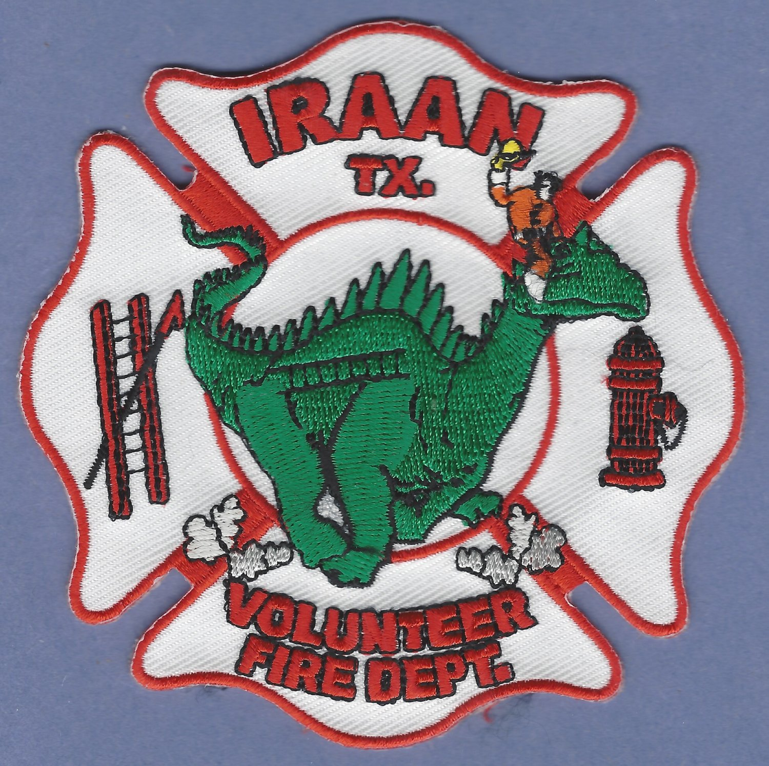 IRAAN TEXAS FIRE RESCUE PATCH