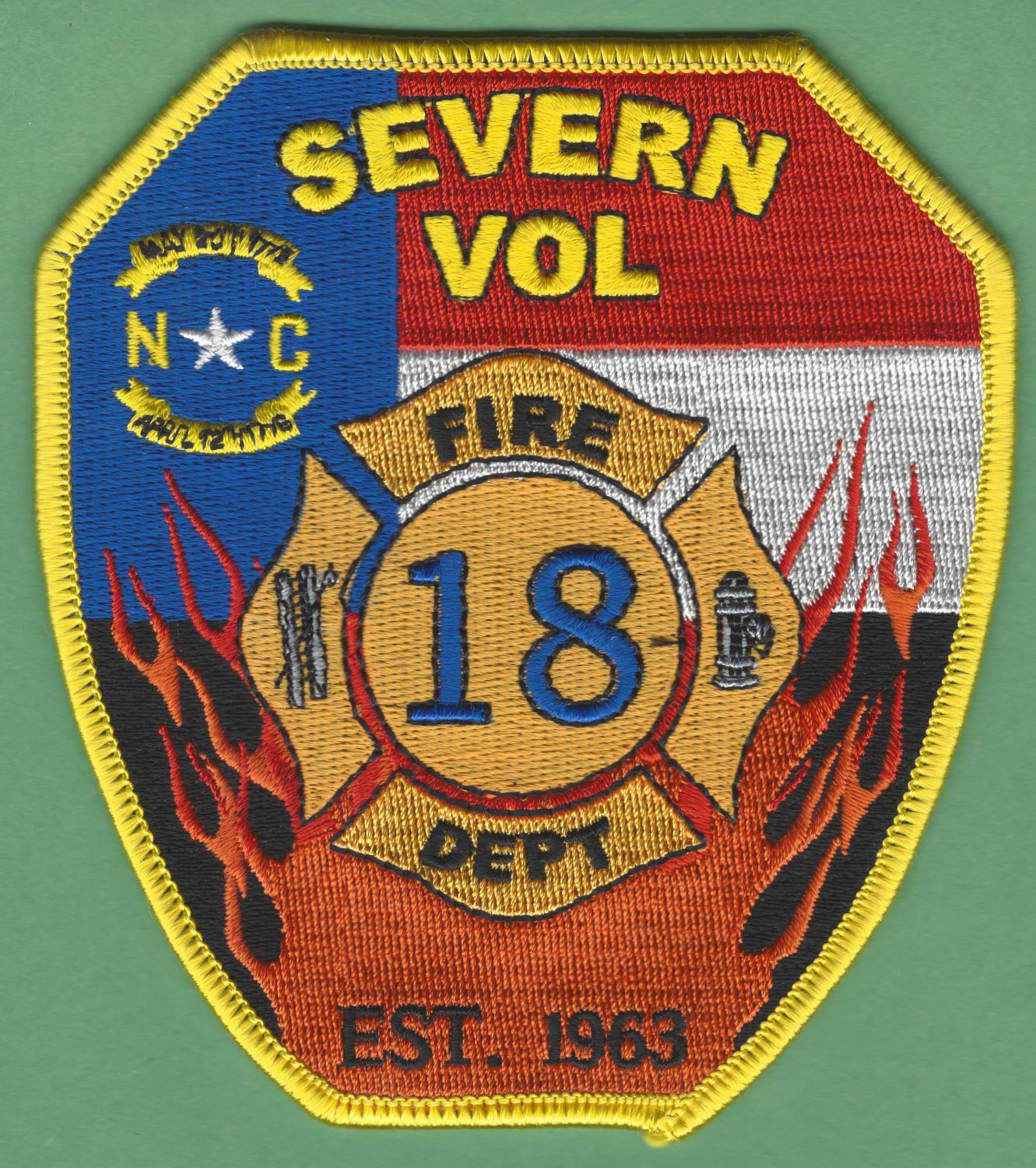 SEVERN NORTH CAROLINA FIRE RESCUE PATCH