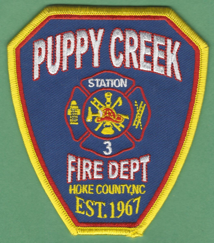 PUPPY CREEK NORTH CAROLINA FIRE RESCUE PATCH