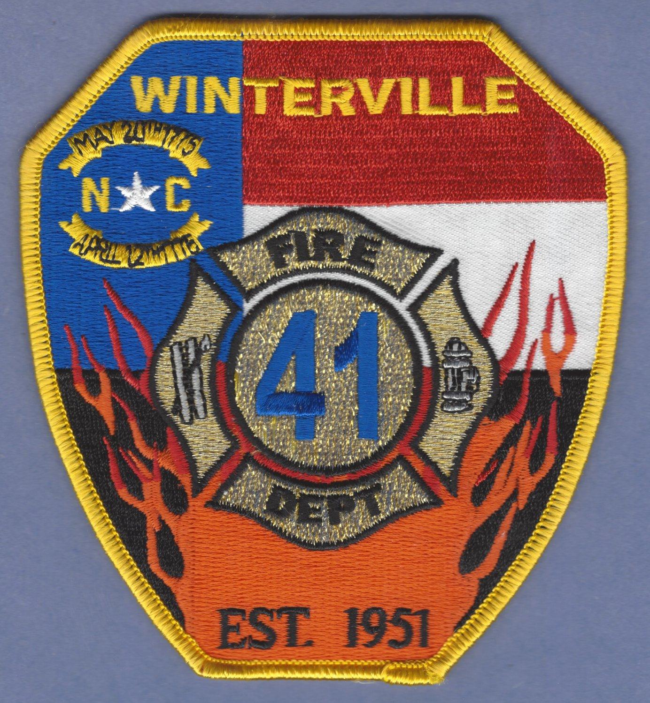 WINTERSVILLE NORTH CAROLINA FIRE RESCUE PATCH